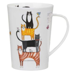 High Rise Cats Argyll Shape Mug