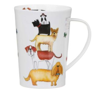 High Rise Dogs Argyll Shape Mug