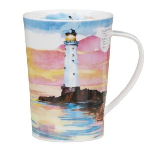 Solitude White Argyll Shape Mug