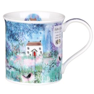Enchanted Cottages Blackbird Bute Shape Mug