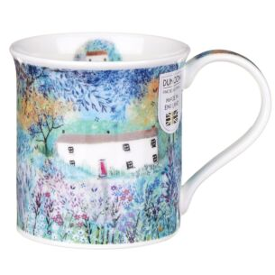 Enchanted Cottages Long House Bute Shape Mug