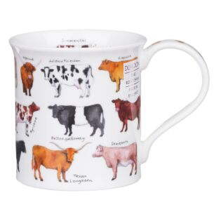 Animal Breeds Cow Bute Shape Mug