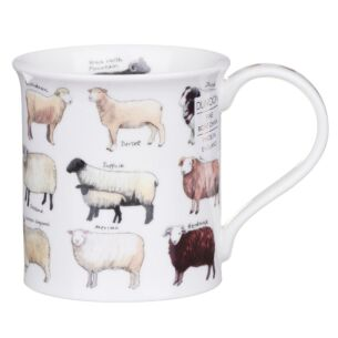 Animal Breeds Sheep Bute Shape Mug