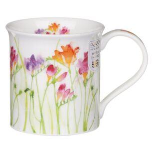 Floral Haze Freesia Bute Shape Mug