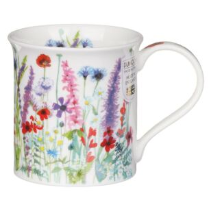 Floral Haze Mixed Bute Shape Mug