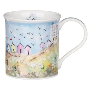 Seaside Cove Beach Hut Bute Shape Mug