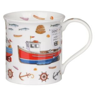 Tideline Fishing Boats Bute Shape Mug