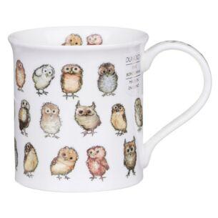 Little Chicks Owls Bute Shape Mug