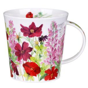 Cottage Border Pink Cairngorm Shape Mug