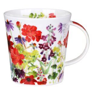 Cottage Border Red Cairngorm Shape Mug