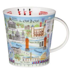 London Map Cairngorm Shape Mug