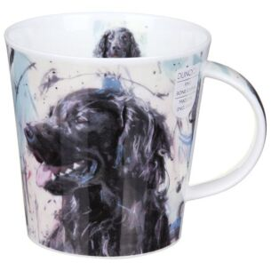 Dogs on Canvas Flat Coated Retriever Cairngorm Shape Mug