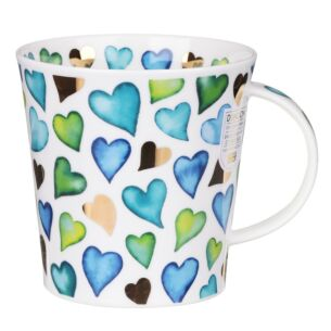 Love Hearts Blue Cairngorm Shape Mug
