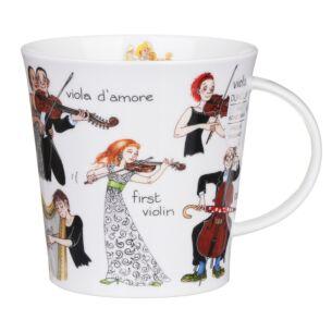 Musical Mayhem Strings Cairngorm Shape Mug