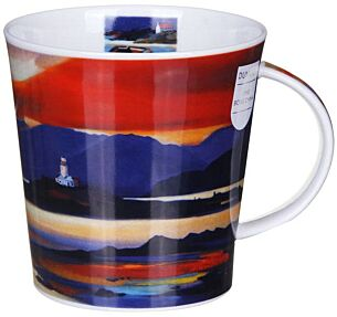 Red Skies Lighthouse Cairngorm Shape Mug