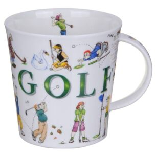Dunoon Sporting Antics Golf Cairngorm Shape Mug