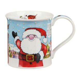 Christmas Post Box Santa Bute Shape Mug