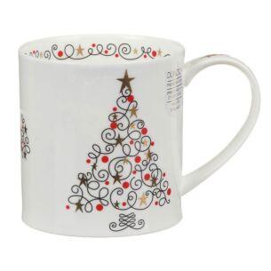 Festive Tree Orkney Shape Mug
