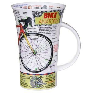 Bike Anatomy Glencoe Shape Mug