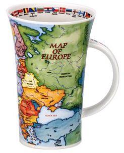 Map of Europe Glencoe shape Mug