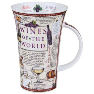Wines of the World Glencoe shape Mug