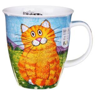 Happy Cats Ginger Nevis shape Mug