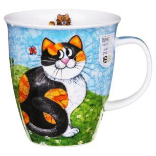 Happy Cats Tortoiseshell Nevis shape Mug