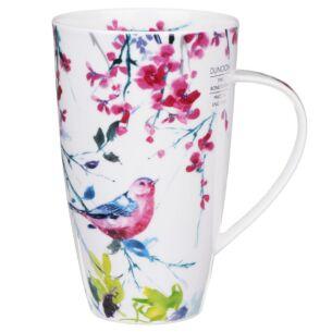 Dunoon Birdsong Pink Henley Shape Mug