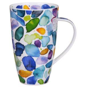Dunoon Blobs! Blue Henley Shape Mug