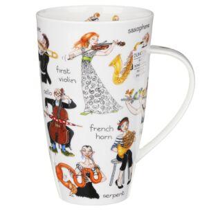 Dunoon Musical Mayhem Henley Shape Mug