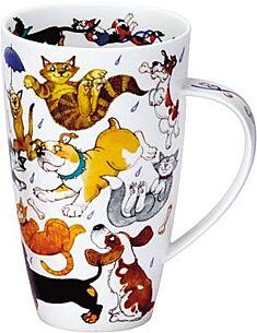 Dunoon Raining Cats And Dogs Henley shape Mug