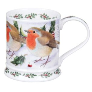 Christmas Festive Birds Robin Iona Shape Mg