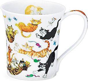 Dunoon Cats Galore Jura shape Mug