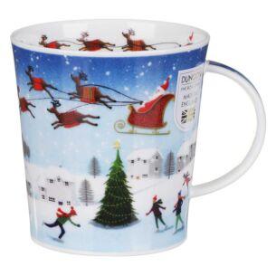 Christmas Skaters Lomond Shape Mug