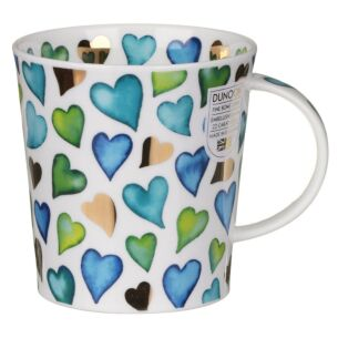 Love Hearts Blue Lomond Shape Mug