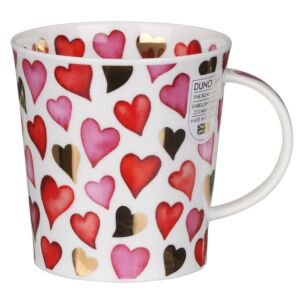 Love Hearts Red Lomond Shape Mug