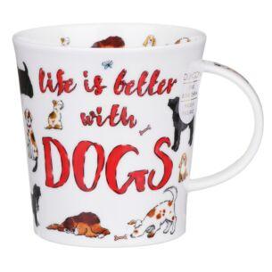 Dunoon Slogans Dogs Lomond Shape Mug