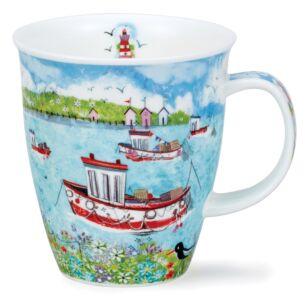Coastal View Fishing Boat Nevis Shape Mug