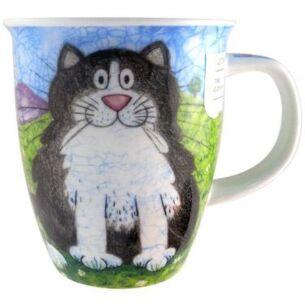 Happy Cats Black Nevis shape Mug