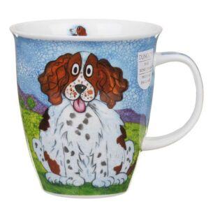 Dunoon Happy Dogs Spaniel Nevis Shape Mug