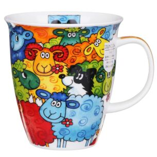 Dunoon Hide & Seek Sheep Nevis Shape Mug