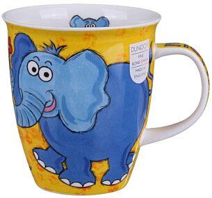 Munch Bunch Elephant Nevis shape Mug
