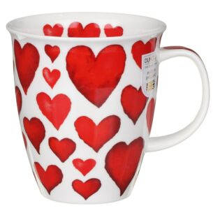 Love Hearts Red Nevis Shape Mug