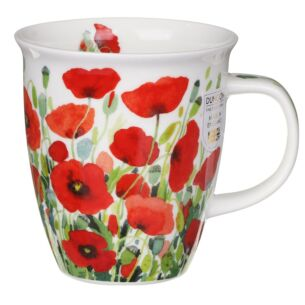 Meadow Poppy Nevis Shape Mug
