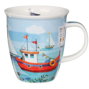 Shoreline Fishing Boat Nevis Shape Mug
