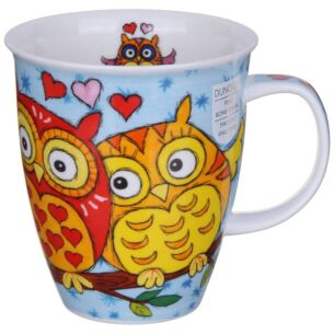 Owls Light Blue Nevis Shape Mug
