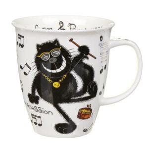 Purrfect Cats Purrcussion Nevis Shape Mug