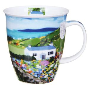 Sea View Cottage Nevis Shape Mug