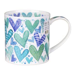 With Love Green Orkney Shape Mug