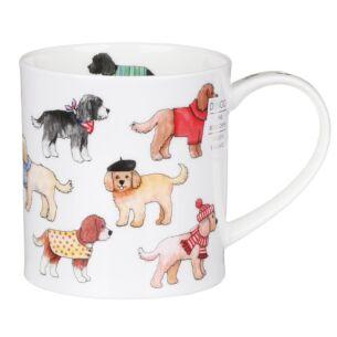 Dunoon Dashing Dogs Cockapoo Orkney Shape Mug